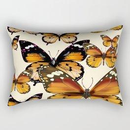 COFFEE & CREAM COLORED BROWN BUTTERFLIES Rectangular Pillow