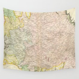 Vintage Map of Bavaria Germany (1814) Wall Tapestry