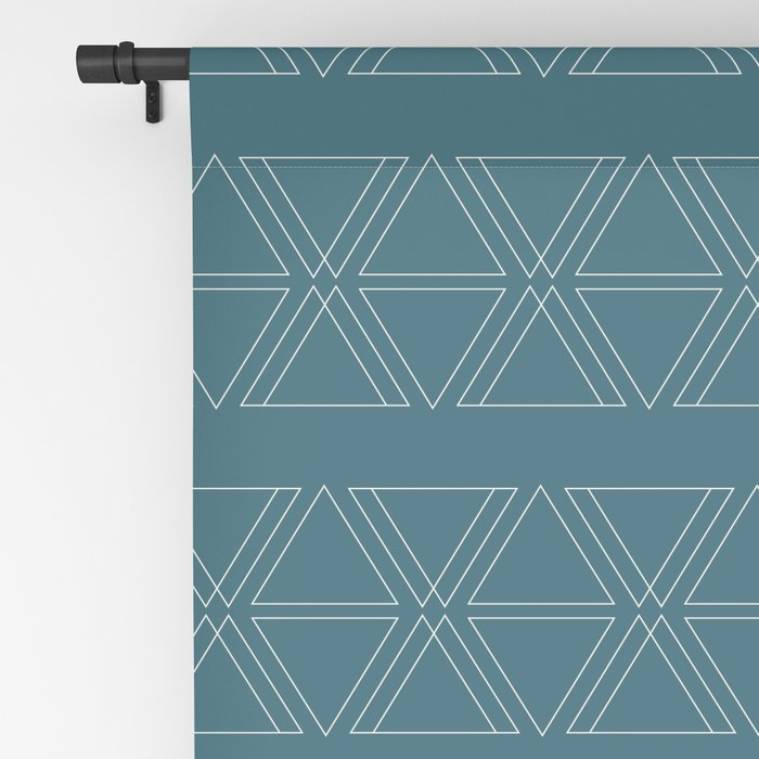lines geo-teal Blackout Curtain
