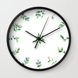 Time to Leaves Wall Clock