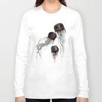 jellyfish Long Sleeve T-shirts featuring Jellyfish by Hana Robinson