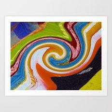 spirals color material Art Print