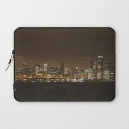 Chicago Skyline at Night Color Photography Laptop Sleeve