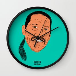 Too Late To Die Young Wall Clock