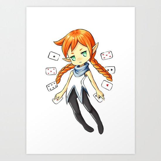 Card Mistress Art Print