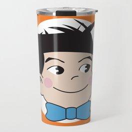 Mabo in ring of orange Travel Mug
