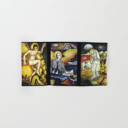 The Conquest of Man Before the Universe portrait painting by Gilberto Gomes Hand & Bath Towel