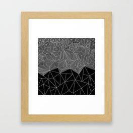 Digital Zentangle Incomplet Dark Framed Art Print
