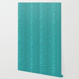 Light Blue Leopard Print Wallpaper