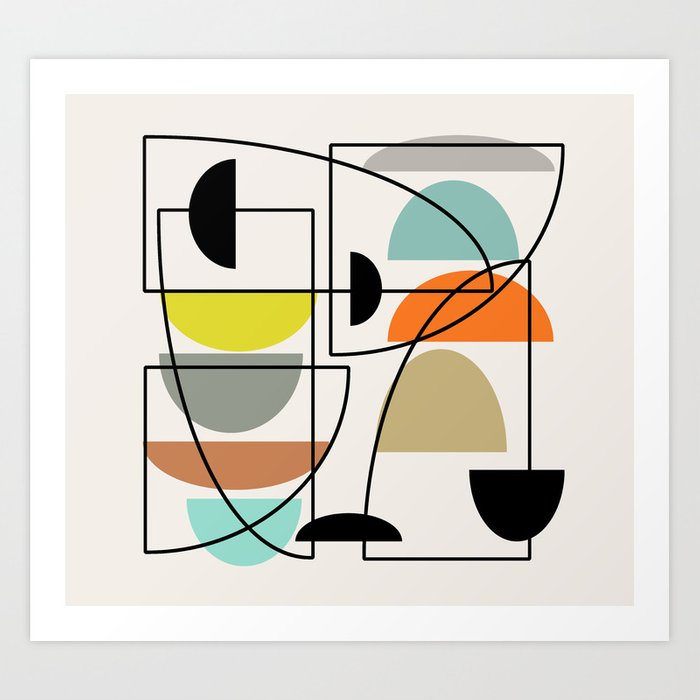 "Mid Century Modern ""Bowls"" Kunstdrucke"