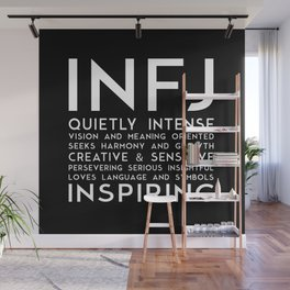INFJ (black version) Wall Mural