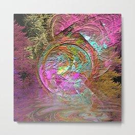 Bubble Art Metal Print