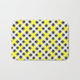 Combo black yellow plaid Bath Mat