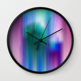 Glitchy Tiles - Abstract Pixel art Wall Clock