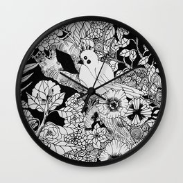 Birdie on a Branch Wall Clock