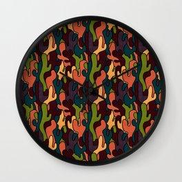 Twisted Cactus Print Wall Clock