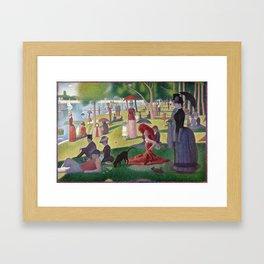 bella hadid + georges seurat Framed Art Print