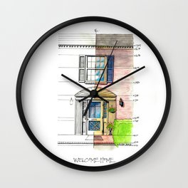 Welcome Home Lynchburg Wall Clock