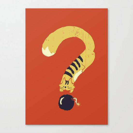 Question Mark (Curiosity Kills The Cat) Canvas Print
