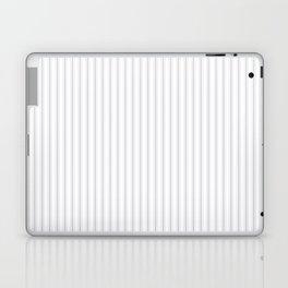 Soft Grey Mattress Ticking Narrow Striped Pattern - Fall Fashion 2018 Laptop & iPad Skin