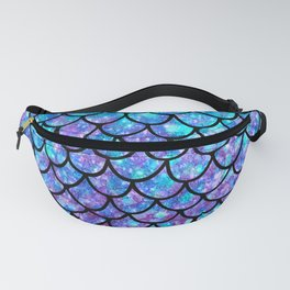 Purples & Blues Mermaid scales Fanny Pack