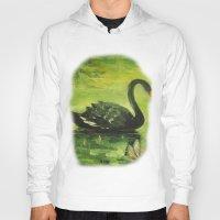 black swan Hoodies featuring Black Swan by OLHADARCHUK
