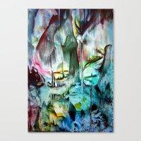 waterfall Canvas Prints featuring WaterFall by ART de Luna