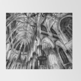 The Haunted Cathedral Throw Blanket
