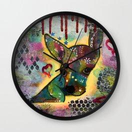 Jimmy Chihuahua Wall Clock