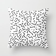 Memphis pattern 30 Throw Pillow