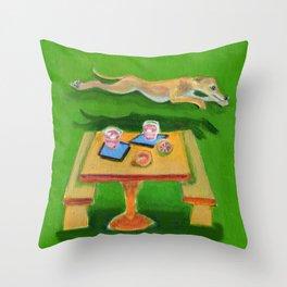 Greyhound Spirit, an Animal Spirit painting Throw Pillow