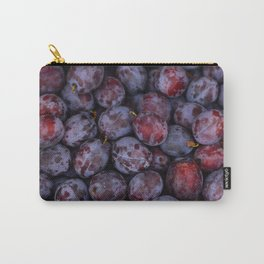 Purple plums fruit pattern Carry-All Pouch