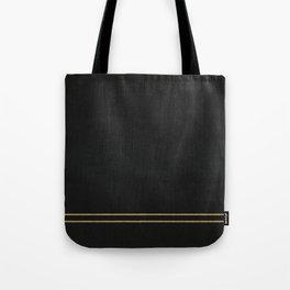 Black Velvet with Gold Lines Tote Bag