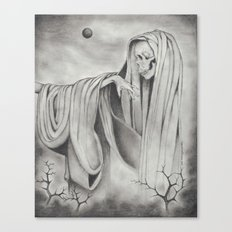 Black Blood Moon Canvas Print