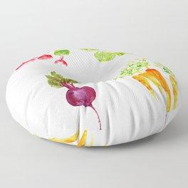 Garden Party - Mixed Veggies Floor Pillow