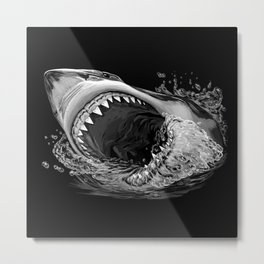 Shark Painting 2 Metal Print