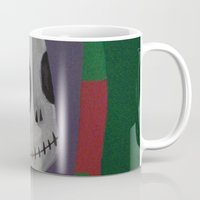 jack skellington Mugs featuring JACK SKELLINGTON/NIGHTMARE BEFORE CHRISTMAS by Kathead Tarot/David Rivera