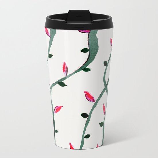 Spring Buds Metal Travel Mug