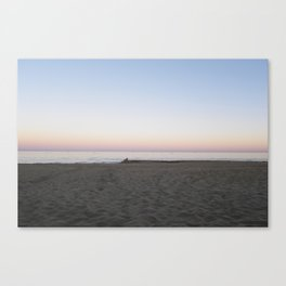 Winter Sunset By The Sea  Canvas Print