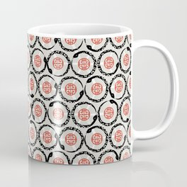Asian Snake Pattern Coffee Mug