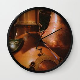 Copper and Whiskey Wall Clock