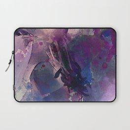 Purple Flower Edited Watercolor Laptop Sleeve