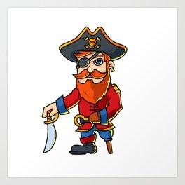 Pirate Cartoon Character Art Print