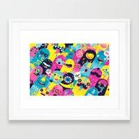 monsters Framed Art Prints featuring Monsters by Lienke Raben