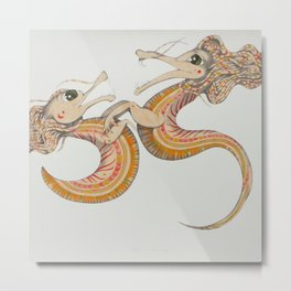 Two dragons Metal Print