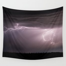 Summer Lightning Storm On The Prairie VI - Nature Landscape Wall Tapestry