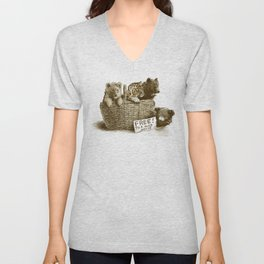 Lions and Tigers and Bears Unisex V-Neck