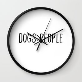 Dogs Over People Wall Clock