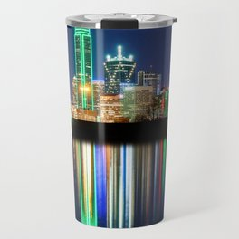 A very colorful Dallas Skyline with an impressive reflection Travel Mug