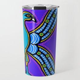 Illuminated Peacock Letter K 2017 Purple Travel Mug
